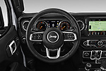 Car pictures of steering wheel view of a 2020 Jeep Gladiator Overland 4 Door Pick Up