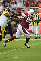 10/23/11 Glendale, AZ: Arizona Cardinals defensive end Darnell Dockett #90 during an NFL game played at University of Phoenix Stadium between the Arizona Cardinals and the Pittsburgh Steelers. The Steelers defeated the Cardinals 32-20.