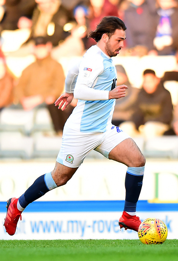 Blackburn Rovers' Bradley Dack in action<br /> <br /> Photographer Richard Martin-Roberts/CameraSport<br /> <br /> The EFL Sky Bet Championship - Blackburn Rovers v West Bromwich Albion - Tuesday 1st January 2019 - Ewood Park - Blackburn<br /> <br /> World Copyright © 2019 CameraSport. All rights reserved. 43 Linden Ave. Countesthorpe. Leicester. England. LE8 5PG - Tel: +44 (0) 116 277 4147 - admin@camerasport.com - www.camerasport.com