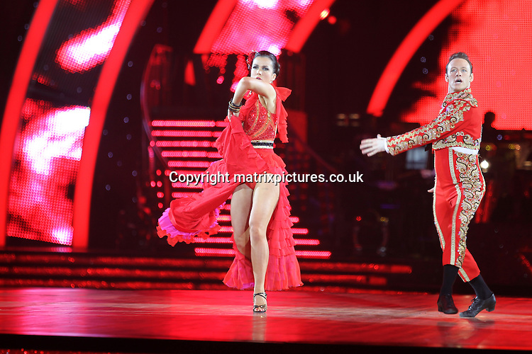 EXCLUSIVE ALL ROUND PICTURE:  TREVOR ADAMS / MATRIXPICTURES.CO.UK<br /> PLEASE CREDIT ALL USES<br /> <br /> WORLD RIGHTS<br /> <br /> English journalist and television personality Susanna Reid is pictured taking part in the first night of the 2014 Strictly Come Dancing Live Tour held at Wembley Arena in London, England.<br /> <br /> Joining the celebrity contestant line-up are Craig Revel Horwood, Len Goodman and Bruno Tonioli, as the tour&rsquo;s formidable judges.<br /> <br /> JANUARY 20th 2014<br /> <br /> REF: MTX 14301