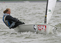 20th SPA Regatta - Medemblik.26-30 May 2004..Copyright free image for editorial use. Please credit Peter Bentley..Marieke Jongens - NED