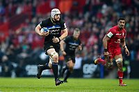 Dave Attwood of Bath Rugby goes on the attack. Heineken Champions Cup match, between Stade Toulousain and Bath Rugby on January 20, 2019 at the Stade Ernest Wallon in Toulouse, France. Photo by: Patrick Khachfe / Onside Images