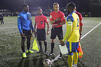 The coin is tossed during Haringey Borough vs AFC Wimbledon, Emirates FA Cup Football at Coles Park Stadium on 9th November 2018