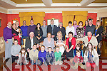 BABY JOY: Proud parents Mary (seated centre) and Mike (back 8th left) Bowler, Ballinorig, South of little Rory who was Christening by Fr Leane at St John's Church, Tralee and celebrated afterwards with family and friends at the Meadowlands hotel, Tralee on Saturday.