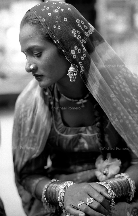 Pushkar (Rajasthan)<br /> <br /> Portrait of a woman.<br /> <br /> Portrait d'une femme.