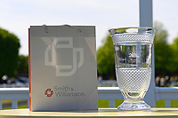 Trophies from the sponsors of The Smith & Williamson British EBF Fillies' Handicap (Class 3)  during Afternoon Racing at Salisbury Racecourse on 17th May 2018