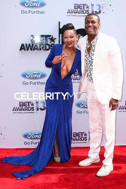 LOS ANGELES, CA - JUNE 30: Meagan Good and Chris Tucker attend the 2013 BET Awards at Nokia Theatre L.A. Live on June 30, 2013 in Los Angeles, California. (Photo by Celebrity Monitor)