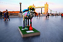 London, UK. 07.04.2015. Shaun the Sheep, charity sculptures, London, UK. Petal, More London. Photograph © Jane Hobson.