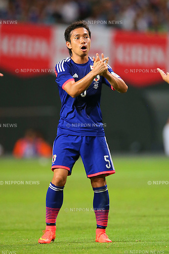 Yuto Nagatomo (JPN), <br /> SEPTEMBER 5, 2014 - Football / Soccer : <br /> KIRIN Challenge Cup 2014 <br /> match between Japan - Uruguay <br /> at Sapporo Dome, Hokkaido, Japan. <br />  (Photo by Yohei Osada/AFLO SPORT) [1156]