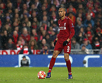 Liverpool's Fabinho<br /> <br /> Photographer Rich Linley/CameraSport<br /> <br /> UEFA Champions League Round of 16 First Leg - Liverpool and Bayern Munich - Tuesday 19th February 2019 - Anfield - Liverpool<br />  <br /> World Copyright © 2018 CameraSport. All rights reserved. 43 Linden Ave. Countesthorpe. Leicester. England. LE8 5PG - Tel: +44 (0) 116 277 4147 - admin@camerasport.com - www.camerasport.com
