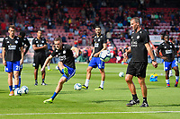 Jamie Vardy of Leicester City warms up during AFC Bournemouth vs Leicester City, Premier League Football at the Vitality Stadium on 15th September 2018
