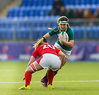9th February 2020; Energia Park, Dublin, Leinster, Ireland; International Womens Rugby, Six Nations, Ireland versus Wales; Anna Caplice of Ireland tries to get past the defender Bethan Lewis of Wales