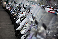 Scooters are parked near the Porto Sorrento on Saturday, Sept. 19, 2015, in Sorrento, Italy. (Photo by James Brosher)