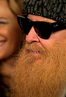 Aug. 29, 2013; Avon, IN, USA: Detailed view of the beard of ZZ Top guitarist/vocalist Billy Gibbons on the red carpet prior to the premiere of Snake & Mongoo$e at the Regal Shiloh Crossing Stadium 18. Mandatory Credit: Mark J. Rebilas-