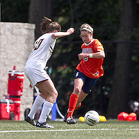 University of Virginia midfielder Morgan Brian (6) on the attack. Boston College defeated University of Virginia, 2-0, at the Newton Soccer Field, on September 18, 2011.