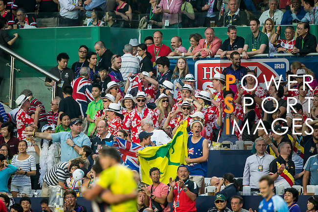 Australia vs United States during the HSBC Sevens Wold Series Plate Final match as part of the Cathay Pacific / HSBC Hong Kong Sevens at the Hong Kong Stadium on 29 March 2015 in Hong Kong, China. Photo by Victor Fraile / Power Sport Images