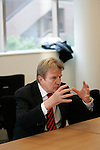 Mar 18, 2010 - Tokyo, Japan - French Foreign Minister Bernard Kouchner answers journalists' questions at the newly opened French Embassy in Tokyo on March 18, 2010. Bernard Kouchner is on a two-day visit in Tokyo and will fly to South Korea on March 19.  (Photo Laurent Benchana/Nippon News).