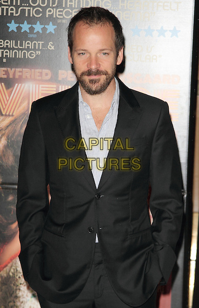 Peter Sarsgaard<br /> 'Lovelace' special screening at the Mayfair Hotel, London, England.<br /> 12th August 2013<br /> half length black suit jacket beard facial hair grey gray shirt<br /> CAP/ROS<br /> &copy;Steve Ross/Capital Pictures