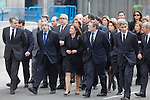 Madrid´s Mayor Ana Botella (C), politician Jaime Lissavetzky (2R) and other politicians attend the funeral chapel of former Spanish Prime Minister Adolfo Suarez to the Spanish Parliament in Madrid, Spain. March 24, 2014. (ALTERPHOTOS/Victor Blanco)
