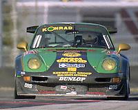 The #32 Porsche 911 GT2 of Juergen von Gartzen, Charles Slater, Peter .kitchak, Calum Lockie, ans Franz Conrad races to a 56th place finish in the Rolex 24 at Daytona, Daytona International Speedway, Daytona Beach, FL, February 2000.  (Photo by Brian Cleary/www.bcpix.com)