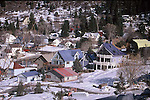 SNOWY SCENE OF COLORADO MOUNTAIN TOWN