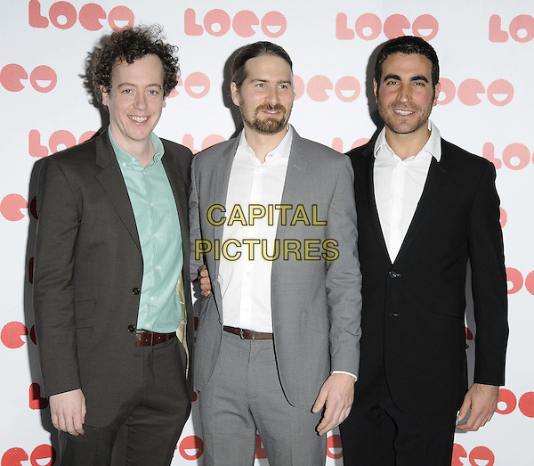 LONDON, ENGLAND - JANUARY 24: guest, Jon Drever &amp; Brett Goldstein attend the &quot;Superbob&quot; UK film premiere, BFI Southbank, Belvedere Rd., on Saturday January 24, 2015 in London, England, UK. <br /> CAP/CAN<br /> &copy;Can Nguyen/Capital Pictures