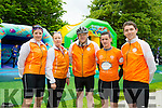 Catherine Tagney, Aine Collins, Kevin Finn, Pa Hartnett and Killian Cusack at the Kerry Emergency Services 75km Cycle in aid of Alzeimhers and South West Counselling starting at the Tralee Town Park on Saturday