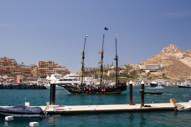 "The ""Buccaneer Queen"" leaving on another cruise, Cabo San Lucas, Baja California, Mexico"