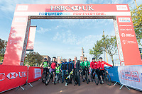 Picture by Allan McKenzie/SWpix.com - 24/09/2017 - Cycling - HSBC UK City Ride Liverpool - Albert Dock, Liverpool, England - HSBC UK, Lets ride, branding.