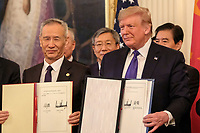 US Signs Phase 1 of the China Trade Deal at the White House