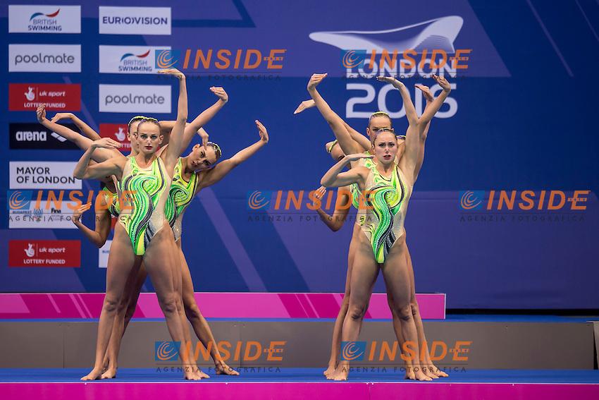 Team UKR Ukraine<br /> London, Queen Elizabeth II Olympic Park Pool <br /> LEN 2016 European Aquatics Elite Championships <br /> Team Technical final<br /> Day 01 09-05-2016<br /> Photo Giorgio Scala/Deepbluemedia/Insidefoto