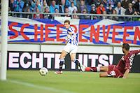 VOETBAL: HEERENVEEN: Abe Lenstra Stadion, 02-08-2012, Europa League, SC Heerenveen - Rapid Boekarest, Eindstand 4-0, Marten de Roon (#15) scoorde de 3-0, ©foto Martin de Jong