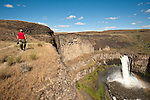 Photographer shoots Palouse Falls State Park, Washington.