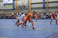 ZAALHOCKEY: HEERENVEEN: 15-12-2015, Sportstad, NEDERLAND - POLEN, Lieke Hulzen (#3), ©foto Martin de Jong