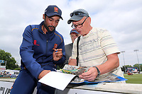 New Essex signing Mohammad Amir signs autographs for fans during Essex CCC vs Warwickshire CCC, Specsavers County Championship Division 1 Cricket at The Cloudfm County Ground on 22nd June 2017