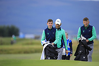 Tom McKibbin &amp; John Brady of Ireland during Day 2 / Foursomes of the Boys' Home Internationals played at Royal Dornoch Golf Club, Dornoch, Sutherland, Scotland. 08/08/2018<br /> Picture: Golffile | Phil Inglis<br /> <br /> All photo usage must carry mandatory copyright credit (&copy; Golffile | Phil Inglis)