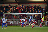 15/03/2016 Sky Bet League 1 Fleetwood Town v Walsall<br /> Chris Maxwell punches clear