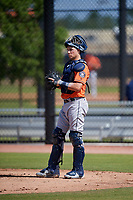 Houston Astros Michael Papierski (64) during a Minor League Spring Training Intrasquad game on March 28, 2018 at FITTEAM Ballpark of the Palm Beaches in West Palm Beach, Florida.  (Mike Janes/Four Seam Images)