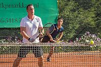 Etten-Leur, The Netherlands, August 27, 2017,  TC Etten, NVK, Men's doubles 40+ Patrick  Cogenbach (R)  / Otto de Ruiter<br /> Photo: Tennisimages/Henk Koster