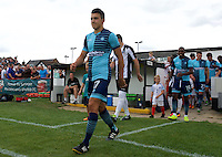 Luke O'Niel of Wycombe Wanderers comes out for the Friendly match between Maidenhead United and Wycombe Wanderers at York Road, Maidenhead, England on 30 July 2016. Photo by Alan  Stanford PRiME Media Images.