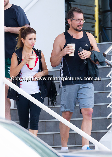 10 NOVEMBER 2018 SYDNEY AUSTRALIA<br /> WWW.MATRIXPICTURES.COM.AU<br /> <br /> EXCLUSIVE PICTURES <br /> <br /> Ada Nicodemou and Adam Rigby seen playing happy families. Out at the gym then later taking Jonah to the local indoor bowling centre.<br /> <br /> Note: All images subject to the following: For editorial / news reporting use only. Additional clearance required for commercial, wireless, internet or promotional use.Images may not be altered or modified. Matrix Media Group makes no representations or warranties regarding names, trademarks or logos appearing in the images.