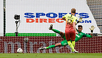 Manchester City's Kevin De Bruyne scores the opening goal from the penalty<br /> <br /> Photographer Alex Dodd/CameraSport<br /> <br /> FA Cup Quarter-Final - Newcastle United v Manchester City - Sunday 28th June 2020 - St James' Park - Newcastle<br />  <br /> World Copyright © 2020 CameraSport. All rights reserved. 43 Linden Ave. Countesthorpe. Leicester. England. LE8 5PG - Tel: +44 (0) 116 277 4147 - admin@camerasport.com - www.camerasport.com