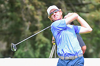 Roberto Castro (USA) watches his tee shot on 8 during round 3 of the World Golf Championships, Mexico, Club De Golf Chapultepec, Mexico City, Mexico. 3/4/2017.<br /> Picture: Golffile | Ken Murray<br /> <br /> <br /> All photo usage must carry mandatory copyright credit (&copy; Golffile | Ken Murray)