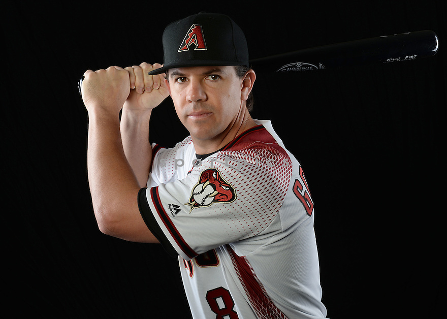 Arizona Diamondbacks Tuffy Gosewisch (8) during photo day on February 28, 2016 in Scottsdale, AZ.