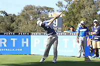 Kevin Phelan (IRL) on the 9th tee during Round 1 of the ISPS HANDA Perth International at the Lake Karrinyup Country Club on Thursday 23rd October 2014.<br /> Picture:  Thos Caffrey / www.golffile.ie