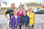 Pictured at the Athea Tidy Towns 5k and 10k fun run and walk which took place on Sunday were Front Row L-R Julie Quirke and Katie Collins, Abbeyfeale. Back Row L-R Eamon O'Mahony, Tournafulla, Deirdre Moloney and Ciara Collins, Abbeyfeale.