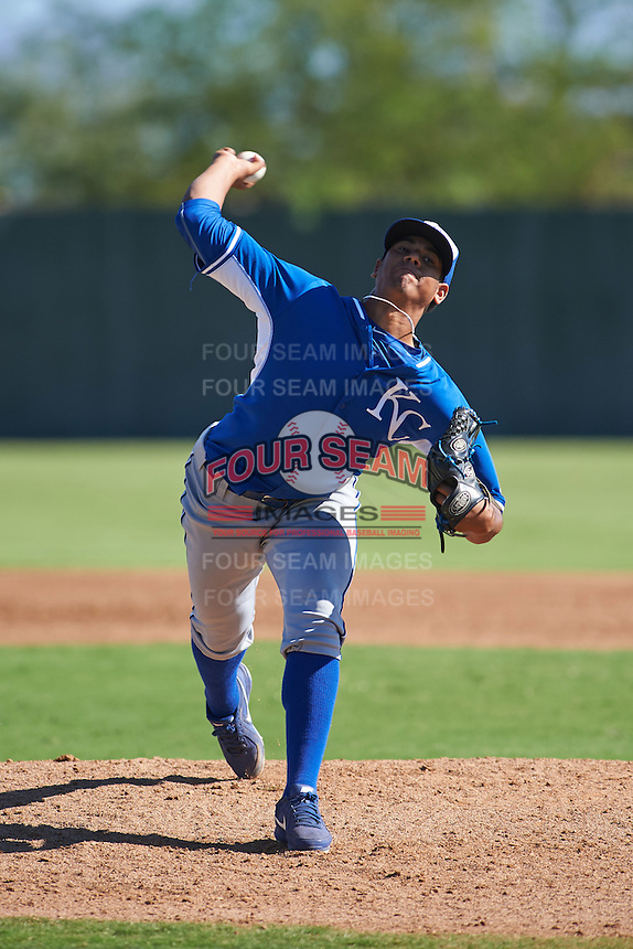 Kansas City Royals pitcher Yimaury Pena (32) during an instructional league game against the San Francisco Giants on October 23, 2015 at the Papago Baseball Facility in Phoenix, Arizona.  (Mike Janes/Four Seam Images)