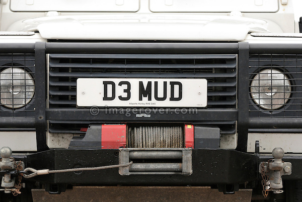 D3 MUD registration on a Land Rover Defender. Europe, England, UK. --- No releases available. Automotive trademarks are the property of the trademark holder, authorization may be needed for some uses.