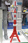 February 7, 2013, Tokyo, Japan - The Tokyo Tower made by puzzles at TIGS in Tokyo. The 75th Tokyo International Gift Show (TIGS) is an exhibition of personal gifts, consumer goods and decorative accessories. The TIGS is the largest International Trade Show in Japan, and held semi-annually, each Spring and Autumn at Tokyo Big Sight.  The exhibition is held on February 6 to 8. (Photo by Rodrigo Reyes Marin/AFLO)..