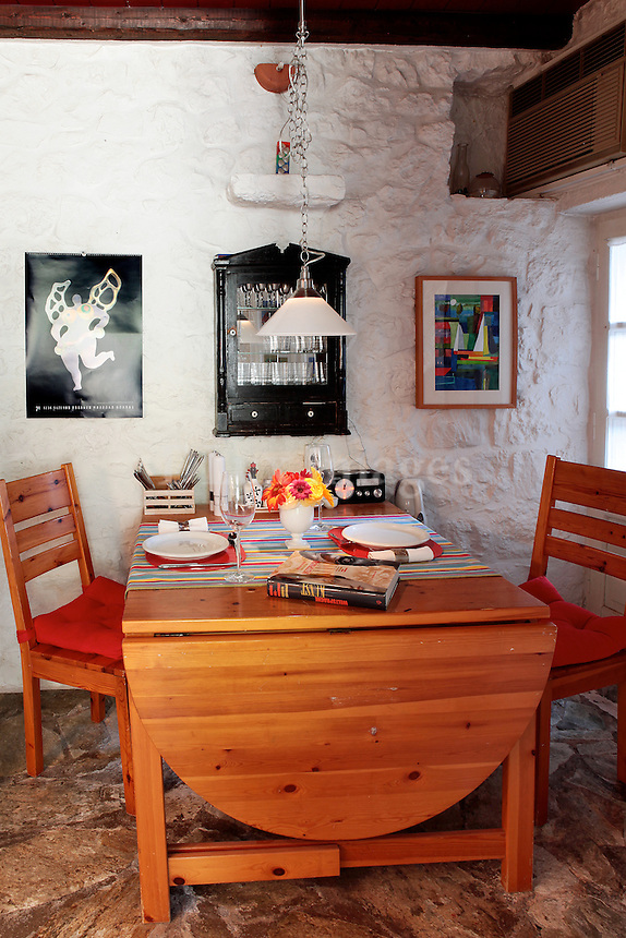 traditional wooden dining set